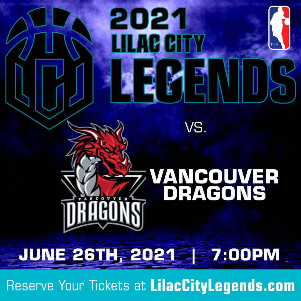 Lilac CIty Legends vs. Vancouver Dragons Home Game June 26th 2021, 7 PM