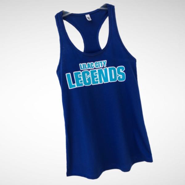 Ladies Royal Blue Lilac City Legends Racerback Tank