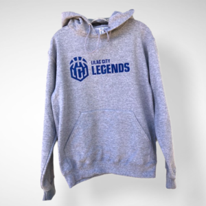 Men's Heather Grey Lilac City Legends Blue Pullover Hoodie