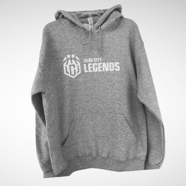 Men's Heather Grey Lilac City Legends White Pullover Hoodie