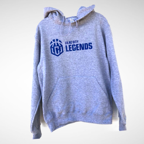 Youth Heather Grey Lilac City Legends Blue Pullover Hoodie
