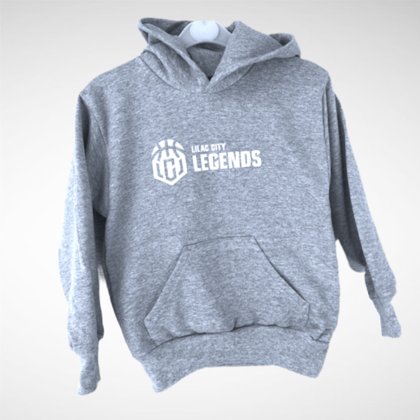 Youth Heather Grey Lilac City Legends White Pullover Hoodie